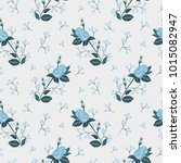 seamless texture with floral... | Shutterstock .eps vector #1015082947