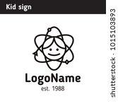 sign on the theme of children's ... | Shutterstock .eps vector #1015103893