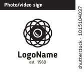sign in the form of a lens in a ... | Shutterstock .eps vector #1015104037