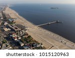 Small photo of Aerial view towards Belmont Pier in Long Beach California.