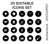 agriculture icons. set of 20... | Shutterstock .eps vector #1015129927