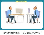 business people poses action... | Shutterstock .eps vector #1015140943
