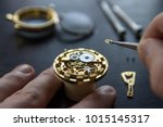 process of installing a part on ... | Shutterstock . vector #1015145317