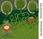 maze game for kids. help red... | Shutterstock .eps vector #1015152733