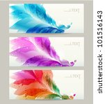 abstract headers with floral... | Shutterstock .eps vector #101516143