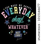 slogan graphic with patches... | Shutterstock .eps vector #1015166677