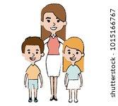 cute mother avatar character... | Shutterstock .eps vector #1015166767