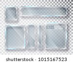 glass transparent plates set.... | Shutterstock .eps vector #1015167523