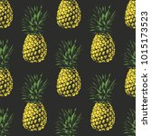 seamless pattern.  pineapple... | Shutterstock .eps vector #1015173523