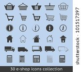 e-shop icons - stock vector