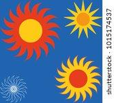 sun icon set vector eps10 | Shutterstock .eps vector #1015174537
