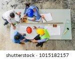 top view of engineering team ... | Shutterstock . vector #1015182157
