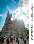 trondheim  norway   july 27 ...   Shutterstock . vector #1015183573