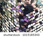 silver and purple sequin fabric | Shutterstock . vector #1015185343