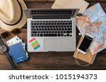 time travel. vacation... | Shutterstock . vector #1015194373
