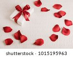 valentine's gift with red... | Shutterstock . vector #1015195963