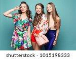 studio portrait of attractive...   Shutterstock . vector #1015198333