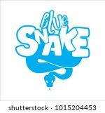 the snake's logo wriggles | Shutterstock .eps vector #1015204453