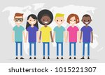 set of characters wearing... | Shutterstock .eps vector #1015221307