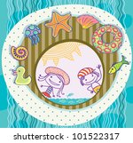 boy and girl  surrounded by the ... | Shutterstock . vector #101522317