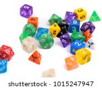 pile of game dice | Shutterstock . vector #1015247947