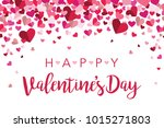 happy valentines day floating... | Shutterstock .eps vector #1015271803
