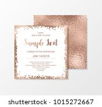rose gold glitter cards with... | Shutterstock .eps vector #1015272667