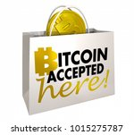 bitcoin accepted here crypto...   Shutterstock . vector #1015275787