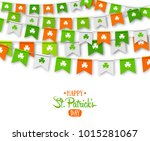 irish holiday   happy saint...   Shutterstock .eps vector #1015281067