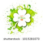 irish holiday saint patrick's... | Shutterstock .eps vector #1015281073