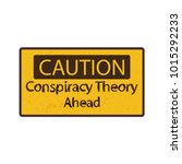 vector sign  conspiracy theory... | Shutterstock .eps vector #1015292233