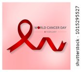 world cancer day graphic with... | Shutterstock .eps vector #1015295527