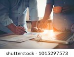 business people analyzing...   Shutterstock . vector #1015297573