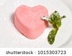 pink heart shaped cake with... | Shutterstock . vector #1015303723