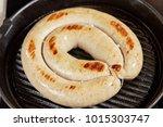 grilled pork hot sausages in... | Shutterstock . vector #1015303747