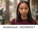 young black woman portrait face ...   Shutterstock . vector #1015304317