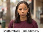 young black woman portrait face ...   Shutterstock . vector #1015304347