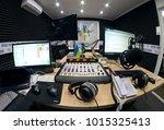 computers  microphones ...   Shutterstock . vector #1015325413