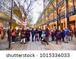 taipei  taiwan   december 31 ... | Shutterstock . vector #1015336033
