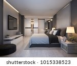 3d rendering beautiful luxury... | Shutterstock . vector #1015338523