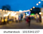 abstract blur people in night... | Shutterstock . vector #1015341157