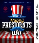 happy presidents' day party... | Shutterstock .eps vector #1015344163