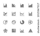 line icon set of graphic chart... | Shutterstock .eps vector #1015367317
