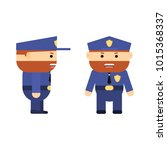 police officer in cartoon style.... | Shutterstock .eps vector #1015368337