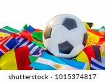 classic leather soccer ball... | Shutterstock . vector #1015374817