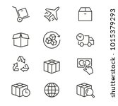 logistics   line vector icon...   Shutterstock .eps vector #1015379293