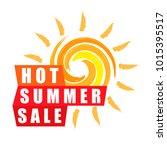 summer sale banner design... | Shutterstock . vector #1015395517
