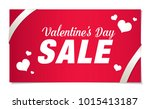 valentine's day sale banner... | Shutterstock .eps vector #1015413187