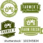 Farmer's Market Fresh and Local - stock vector