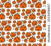 vector of orange halloween... | Shutterstock .eps vector #1015458607